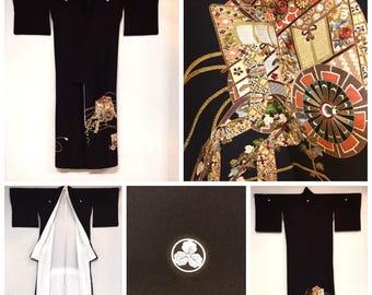 Silk Kurotomesode Kimono
