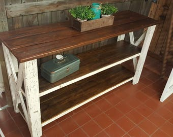 X Console table - Farmhouse console buffet (LOCAL pickup only)