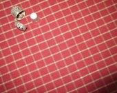 By The Half Yard! Red Windowpane Dunroven House Homespun Fabric #H301