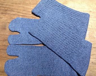 Tabi Split Toe Socks Flip Flop Socks Blue&Black mix