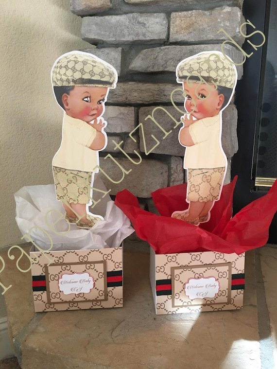 Gucci Inspired Baby Boy Baby Shower African American Baby