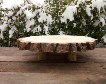Rustic Wood Cake Stand  8