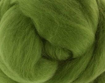 Merino Wool Roving / Combed Top / in DHG Leaf