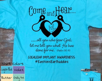 Easton's Ear Buddies ~ Cochlear Implant Awareness Shirt ~ Cochlear Implant