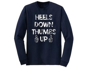Heels Down Thumbs Up Long Sleeve Tee