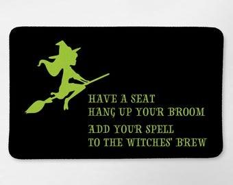 Halloween Bath Mat Halloween Bathroom Decor Witch Bathroom Halloween Witch Decor Funny