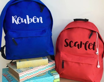 Personalised Name Backpack with ANY NAME Kids Children Nursery Gym School Student Rucksack
