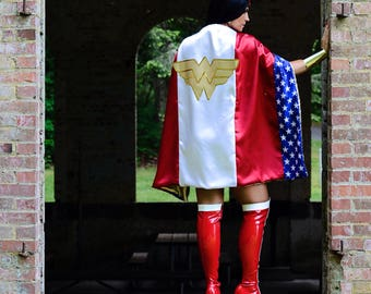 Wonder Woman CAPE Stars & Stripes