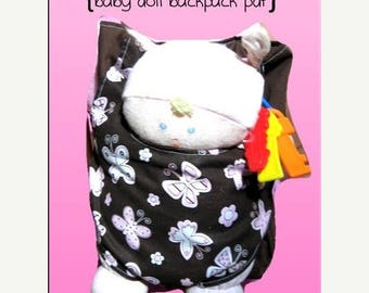 50% OFF SALE Baby Doll Backpack Carrier for American Girl Doll, Bitty Baby, and more