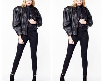 30% off Vintage 80s Leather Blazer