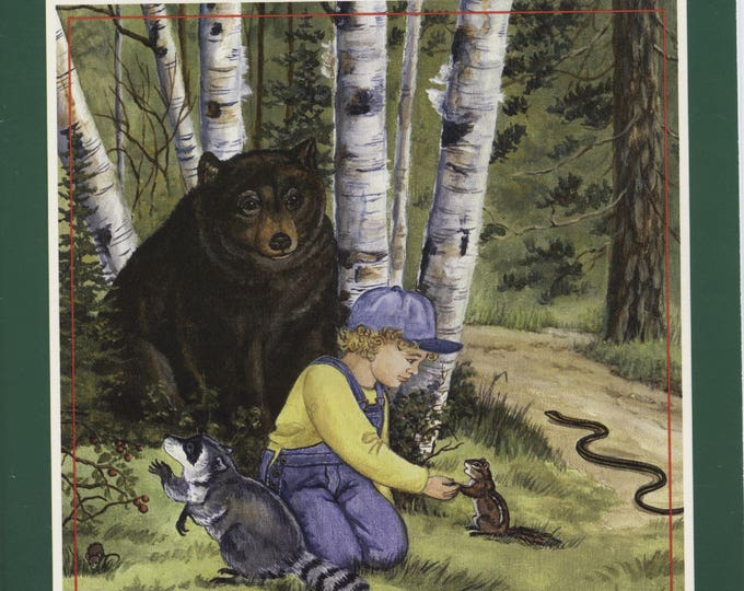 MY FOREST BOOK Series #1, 2, 3 for a boy, vintage, interactive book, write your child's name in book, the child is then in the story,
