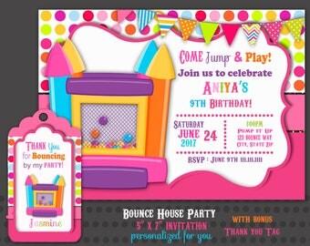 Bounce house invites Etsy