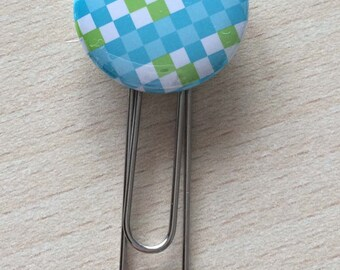 Bookmark / paperclip: turquoise square