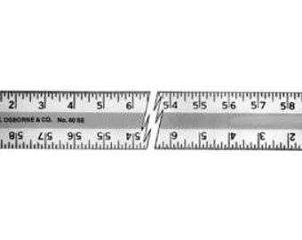 C. S. Osborne & Co. No. 60se Aluminum Straight Edge (mpn # 64082)