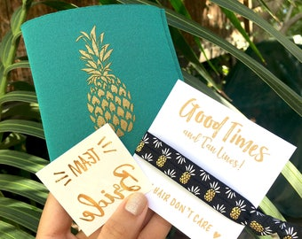 Bachelorette Party Favors | Pineapples | Flash Tattoos | Temporary Tattoo | Can Coolers | Bachelorette Party | Team Bride | Bridesmaid Gifts