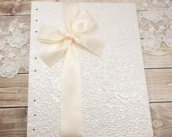 Photo Guest Book, Wedding Guest Book, White Guest Book, Wedding Scrapbook, Blank Pages, Floral Guest Book, Custom Made Just For You