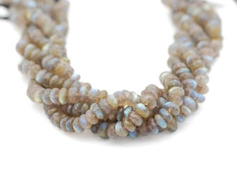 Labradorite Faceted Rondelle Bead 6-8 mm