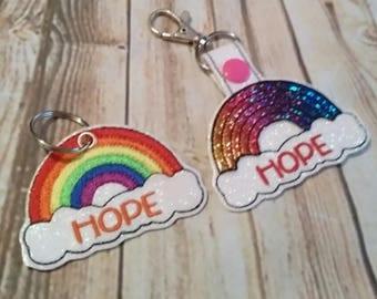 Rainbow of Hope - Rainbow - Clouds -  2 Styles  - DIGITAL Embroidery DESIGN