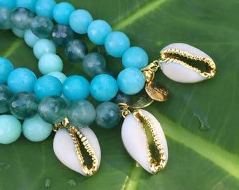 Cowery Shell 14kt gold Stretch bracelets