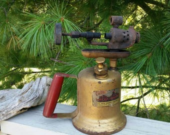 Vintage Brass Blow Torch with Single Valve