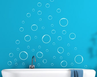 Bubble Wall, Bubble Wall Decal, Bubble Decal, Bubble Sicker, Bathroom Wall  Decal