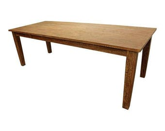 "French Country Farm Rustic Dining Table 90"" Long"