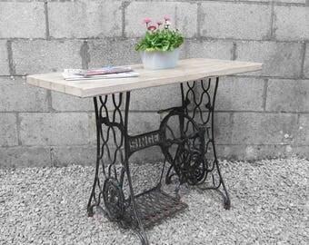 Vintage Rustic Pine Scaffold Sideboard Hall Table
