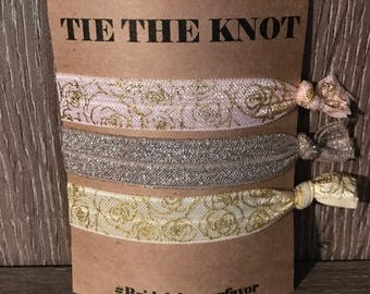 Tie the knot bridal shower favors