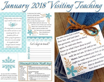 January 2018 Visiting Teaching Printables, LDS Relief Society, Instant Download