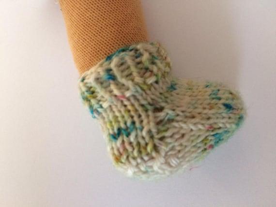 Knitting Pattern Doll Socks : Sock Knitting pattern for the 10 waldorf doll PDF