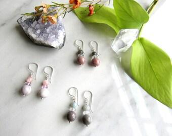 Misty Mountain Jasper Earrings | Leaf&Luna