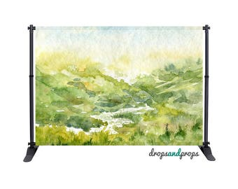 Watercolor Countryside – Photography Backdrop