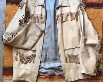 Fringed deerskin jacket