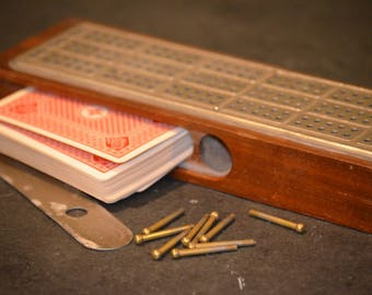 Antique C.W. Le Court Cribbage Board