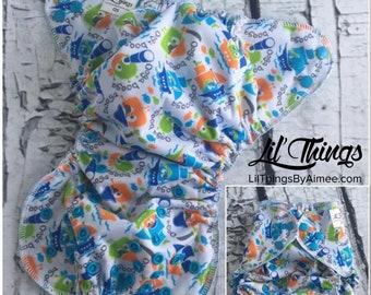NEW Custom One Size Fits Most OS Swim Diaper Cover Boys Girls Ooga Booga