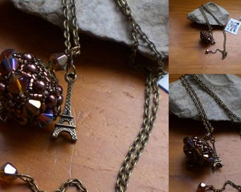 long polished bronze and chocolate pearls