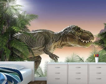 ON SALE Limited Time Dinosaurs Wall Mural Photo Wallpaper Kids Bedroom T  Rex Wm 053 Part 78