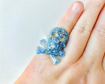 Pastel Pirate Resin Adjustable Ring