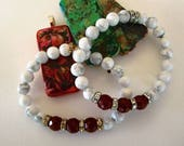 Ruby and White Howlite --...