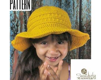 Sun Hat Crochet Patten | CROCHET PATTERN Summer Sun Hat | Child and Adult Sun Hat Pattern | PDF Digital Download Crochet Pattern
