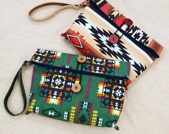 Canadian national fabric clutches, envelope clutches