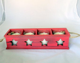 Votive candles, patio candle, soy candles, rustic candle, candle box, container candle,star candle, unique candle, gift candle