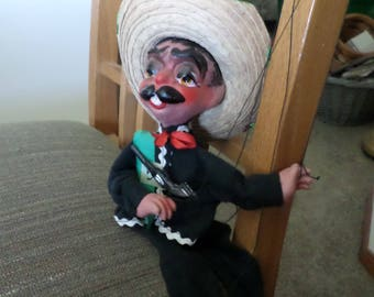 Vintage Mexican  Puppet Marionette