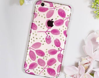 Patterned iPhone Case For Her - Personalised Phone Case - Birthday Gift for her - Pretty phone case - Name phone case - Clear phone case