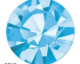 aqua flatback crystals/rhinestones - one gross