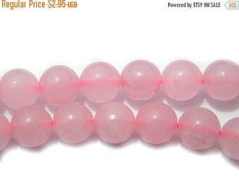HALF PRICE 10 Rose Quartz Beads - 8mm