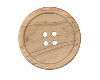 1 big wooden button 4 holes