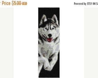 SALE HALF PRICE off Instant Download Beading Pattern Peyote Stitch Bracelet Siberian Husky Seed Bead Cuff