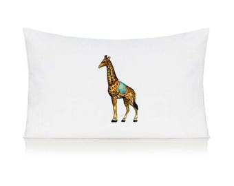 Circus giraffe pillow case, cushion, bedding, pillow cover