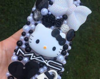 Black & White Hello Kitty Bling iPhone 7 Case